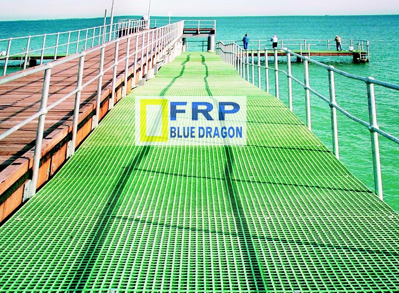 Bán tấm sàn FRP Grating chống cháy, kháng hóa chất, sàn công nghiệp thao tác trên cao