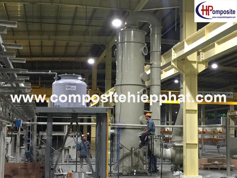 Tháp xử lý khí bằng nhựa PP