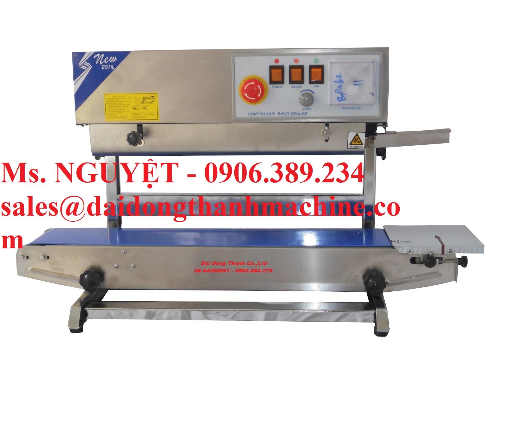 Máy dán miệng túi tự động hàn nhiệt DBF-770WL dạng đứng
