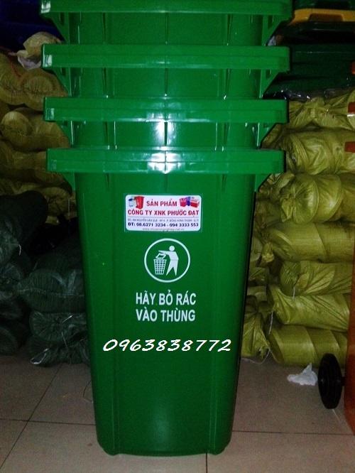 Thùng rác 240L   Thùng rác nhựa có bánh xe