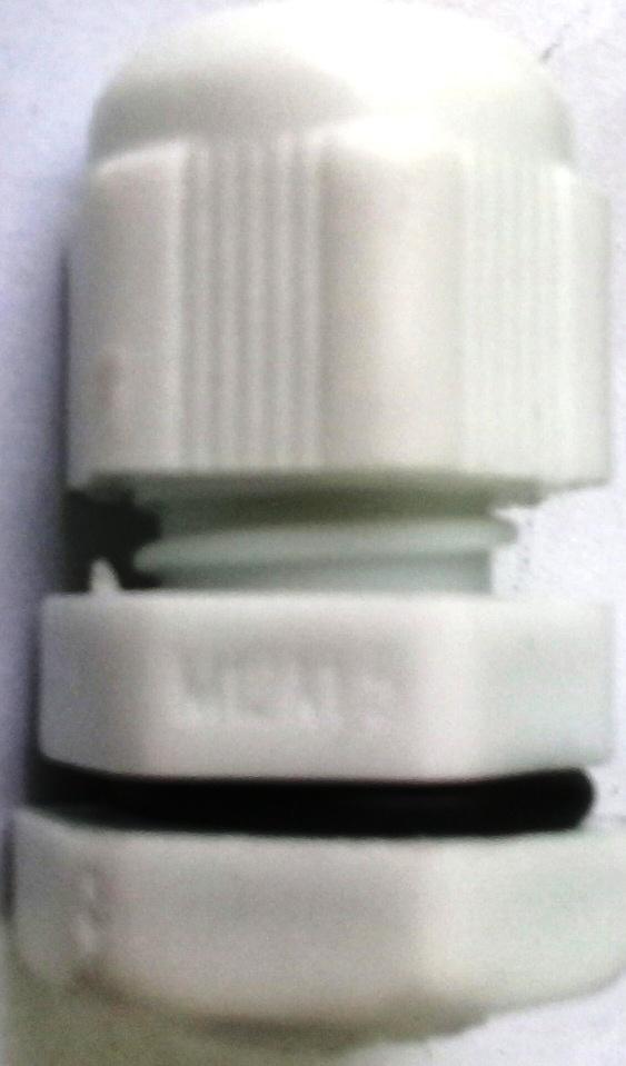 Xiết cáp nhựa M12x1.5, có ron cao su
