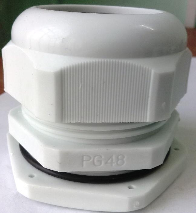 Xiết cáp nhựa PG48, có ron cao su