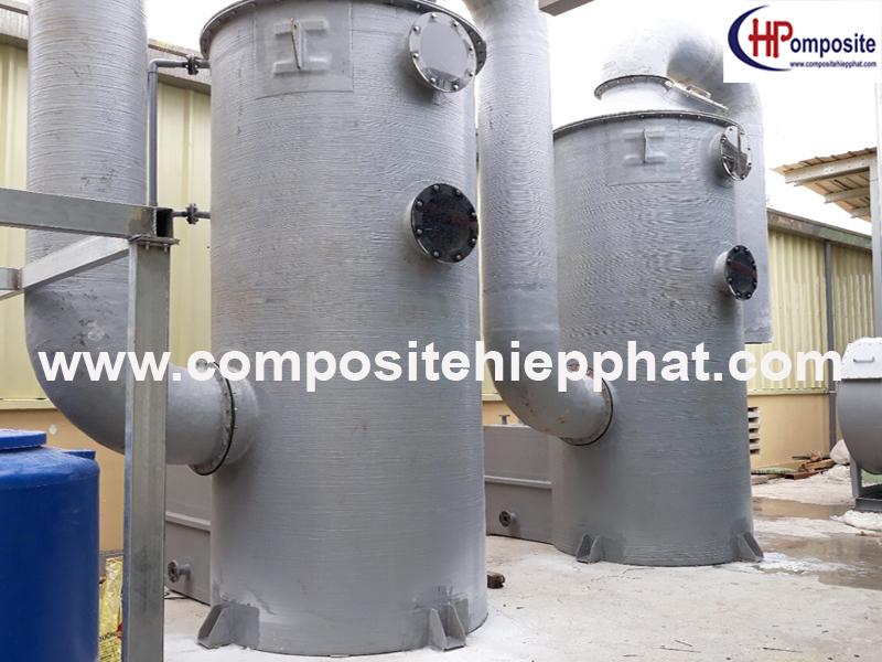 Tháp nhựa composite FRP xử lý khí