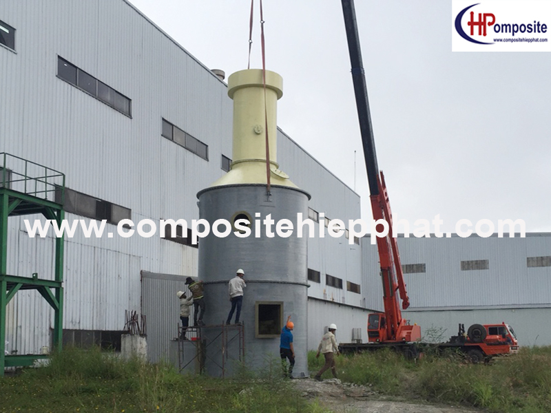 Tháp xử lý khí composite FRP