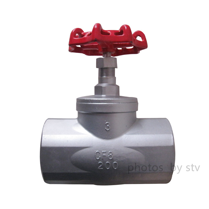 Investment Casting Globe Valve,CF8,3 Inch,200 WOG,NPT End