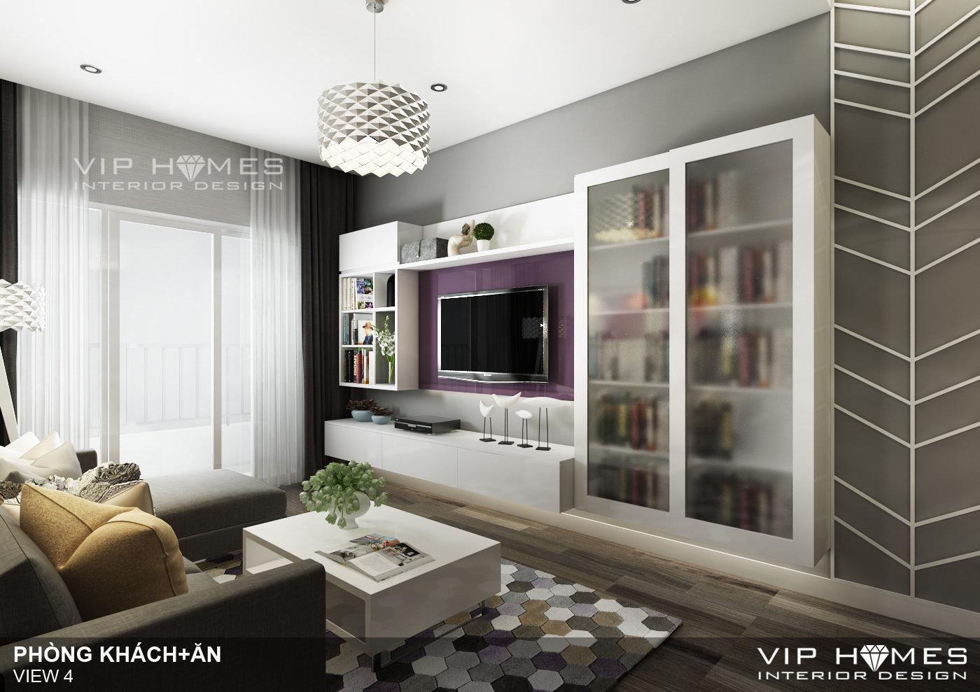Thiết kế nội thất căn hộ Chung Cư LexingTon, Quận 02