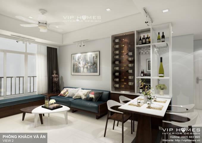 Thiết kế nội thất căn hộ chung cư Thuận Kiều 110m2
