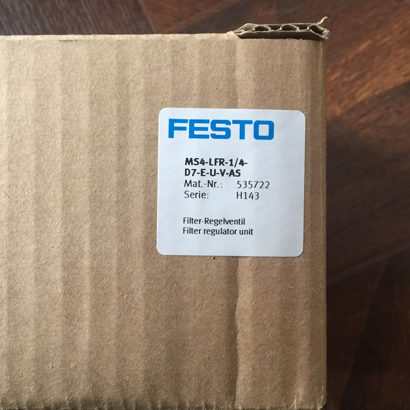FESTO MS4-LFR-1/4-D7-E-U-V-AS 535722