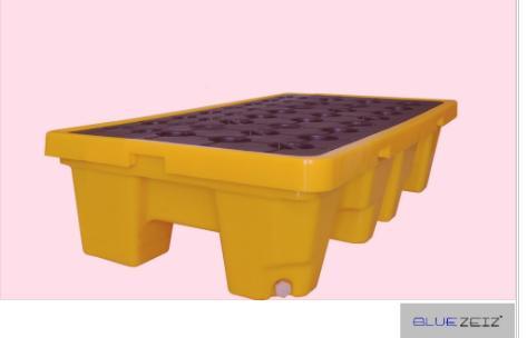 Pallet chống tràn dầu, hóa chất (2 drum spill pallet) BlueSP-2D