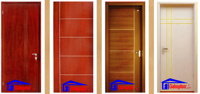 Cửa gỗ MDF veneer phong phú về màu sắc - Giahuydoor