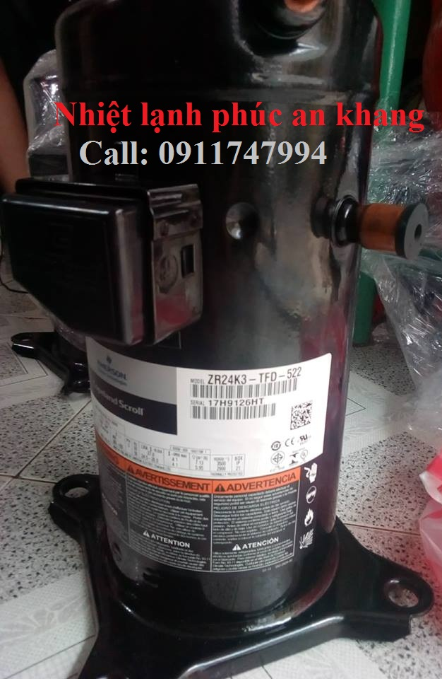 Nhận cung cấp (bán lốc) máy nén lạnh copeland 6hp tại tỉnh bình dương- 0911747994- tận nơi