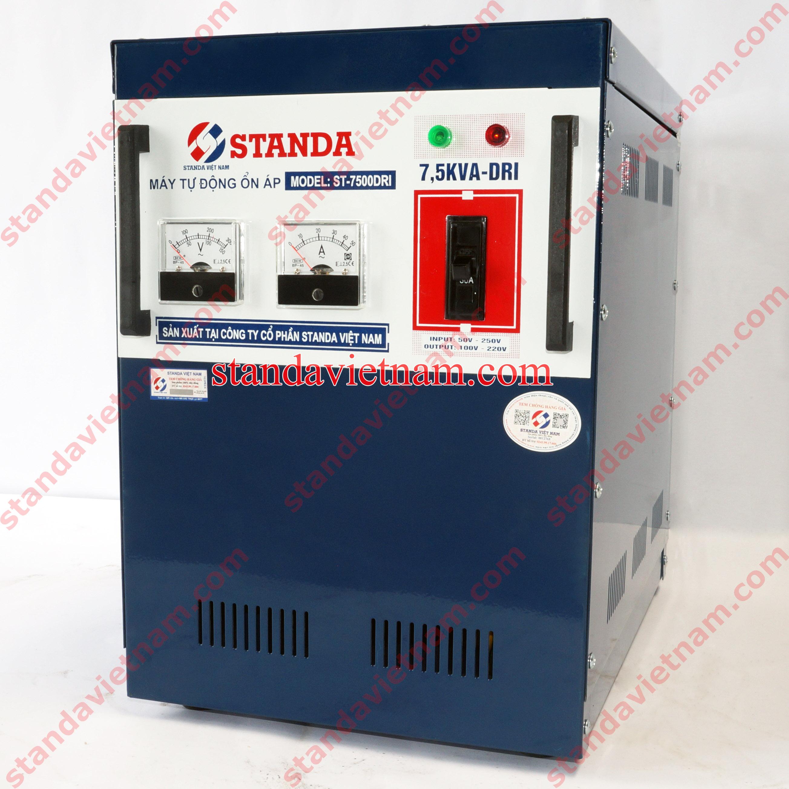 Ổn áp Standa 7,5KVA-DRI dải điện áp 50-250V
