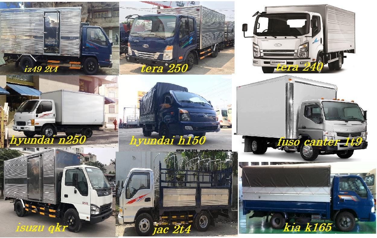Gía xe tải 2t4 lưu thông thành phố-giá xe tải 2,4 tấn- giá xe tải 2 tấn 4
