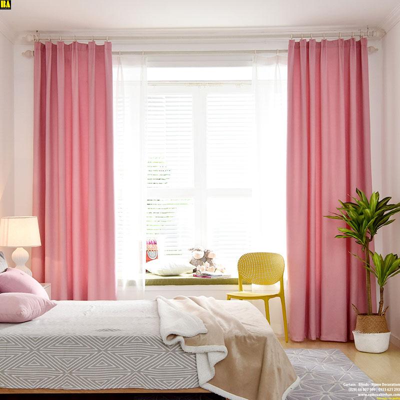 Rèm cửa chống nắng vải bố hiện đại Rèm trơn một màu