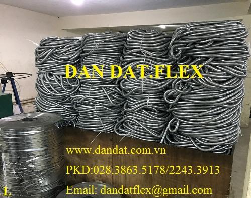 Ống ruột gà có lưới - ống thép luồn dây điện - ống luồn dây điện bọc nhựa pvc