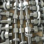 ASTM A193 B8M Stud Bolts & 2 Nuts, 3/4 Inch × 6 Inch