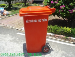 thùng rác giá rẻ tại hcm, bán xe đẩy rác 660l, thung rac nhua