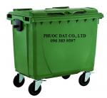 bán xe đẩy rác 660 lít ở đồng nai, sản xuất thùng rác nhựa, thùng rác công nghiệp 240l