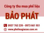 Thu mua phế liệu giá cao tại tphcm