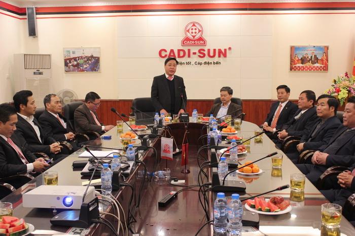 Công ty Điện lực Sơn La thăm và chúc tết Công ty CADI-SUN