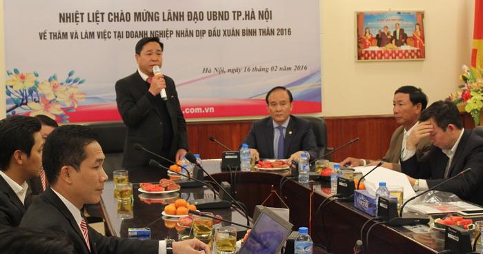 Lãnh đạo UBND T.p Hà Nội thăm, chúc Tết Công ty CADI-SUN