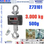 Cân treo điện tử - Cân cẩu - Crane Scale - Tải trọng 3 tấn