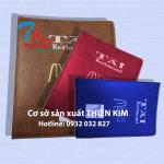 Cơ sở sản xuất bìa đựng hồ sơ, bìa tính tiền da, cung cấp bìa đựng bằng, bìa da giá rẻ,