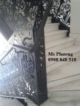 Cầu thang cắt CNC sang trọng, sơn tĩnh điện bền, đẹp