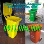 Thùng rác 120 lít thùng rác y tế có hai bánh xe