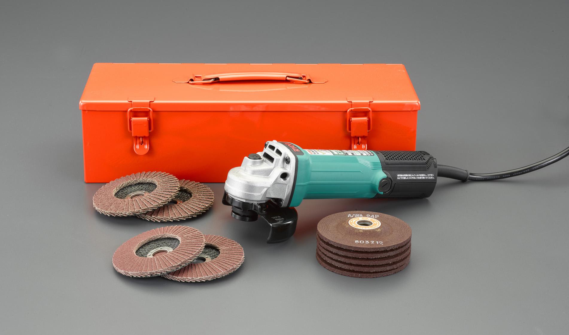 Disk grinder EA80BB-10D, Máy mài đĩa 100mm ESCO, Máy mài đĩa 100V, 100mm/ 980W ディスクグラインダーセット
