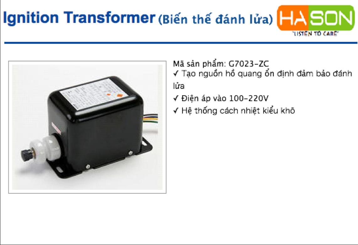 G7023-ZC leicip, Ignition transformer G7023-ZC G7023-ZC leicip, Bộ đánh lửa Leicip G7023-ZC leicip