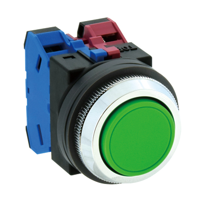 Nút nhấn điều khiển IDEC ABN111Y, Pushbutton ABN111Y,30mm TWND Series Pushbutton Flush Momentary ABN111Y