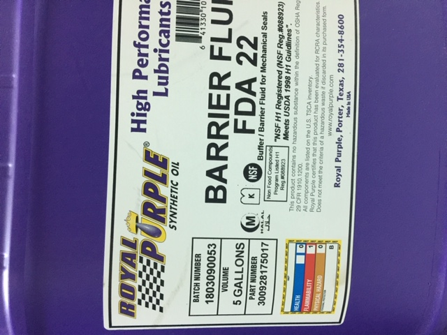 BARRIER FLUID FDA 22