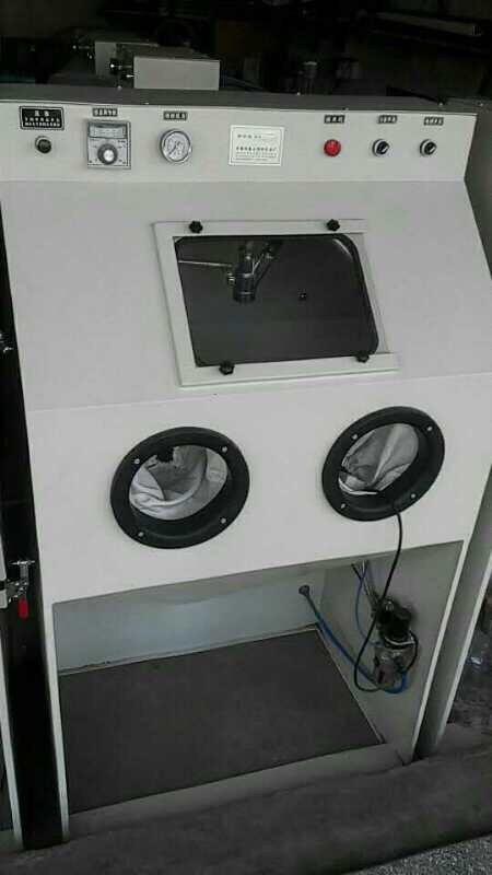 Máy bắn cát GLP thu hồi tách bụi trong buồng kính