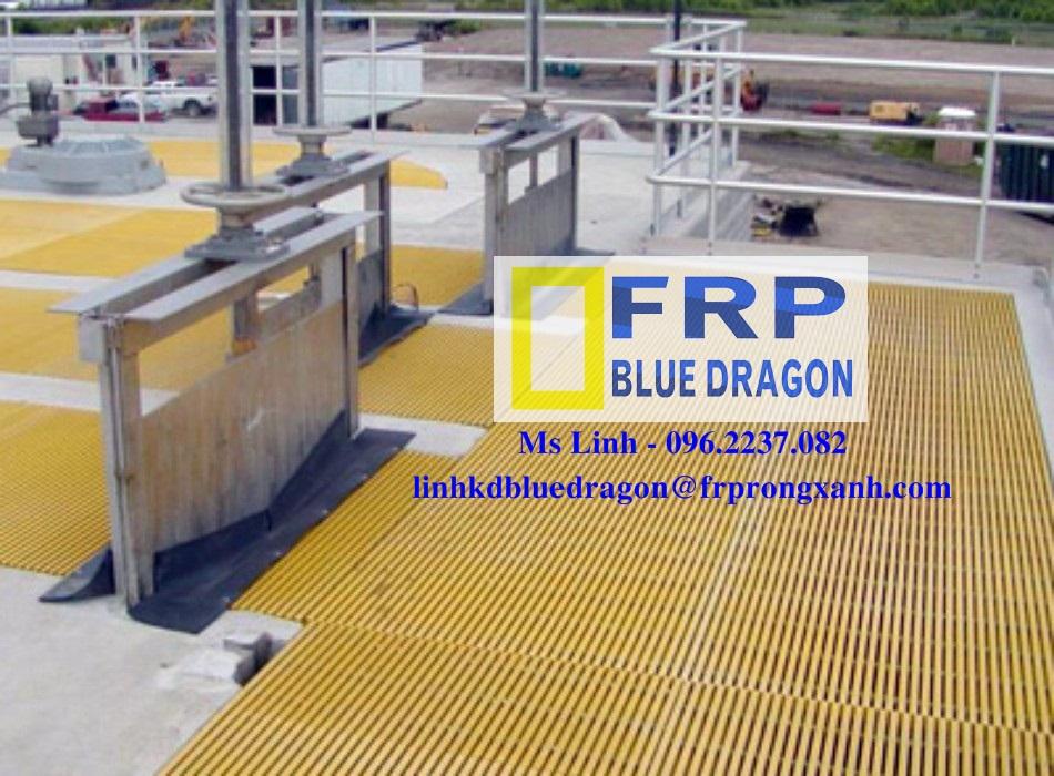 Cung cấp tấm sàn FRP Grating, bậc thang, tay vịn, nắp thoát mương nước, các loại ống vuông, tròn,...