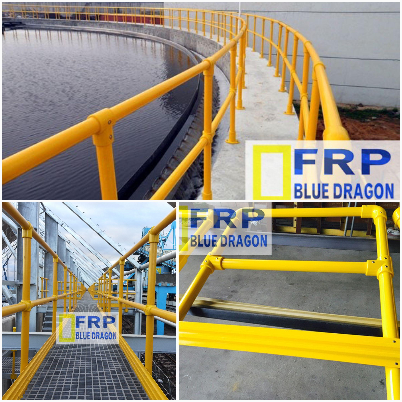 Tay vịn lan can cầu thang, hành lan đi bộ, thành hồ xử lý nước thải - Handrail FRP
