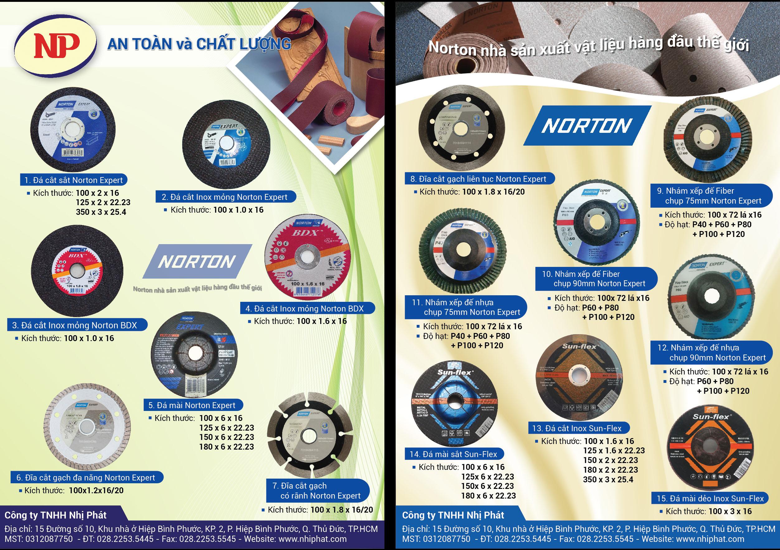 Nhám xếp Norton Expert - chụp nhựa đế nhỏ