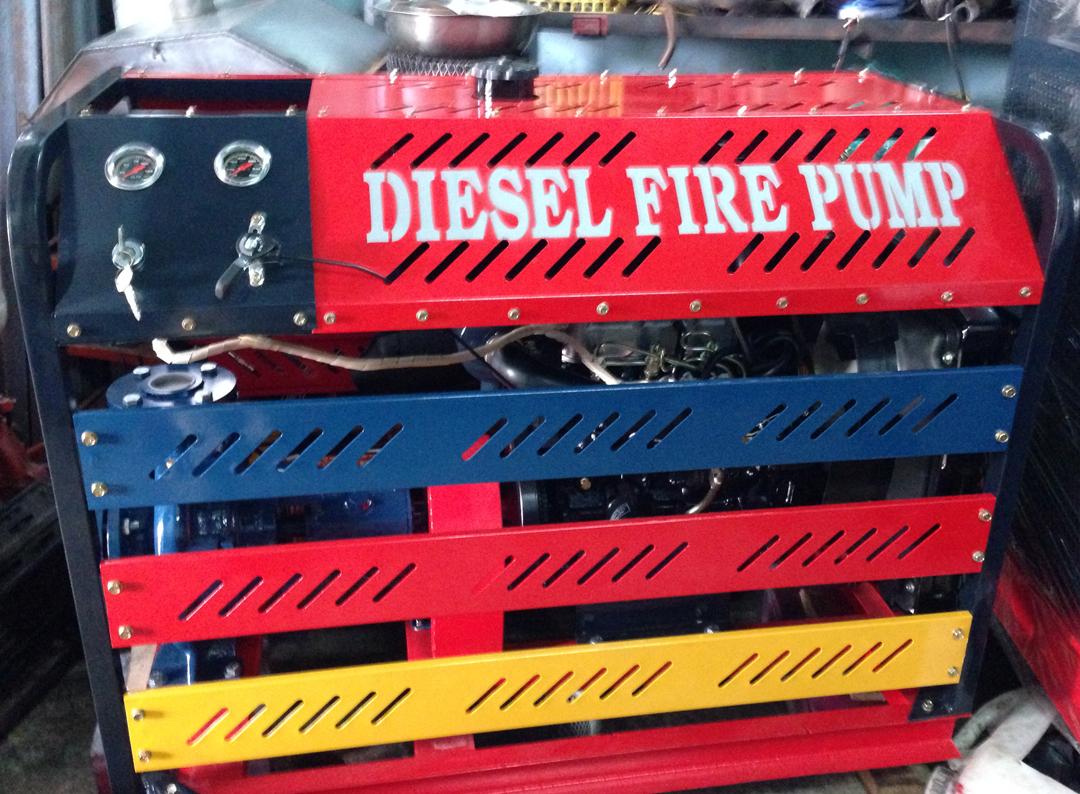 Máy bơm Diesel, Hyundai 80hp, Q=80-240m3/h, H= 68-41m,
