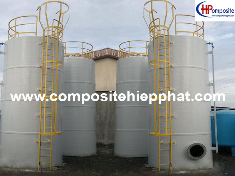 Bồn composite chứa a xít