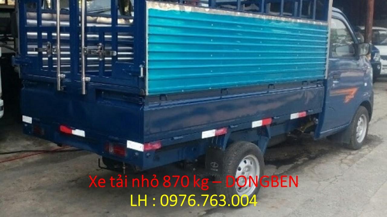 xe dongben 870kg- dongben thùng mui bat 810kg- xe mới trả góp.