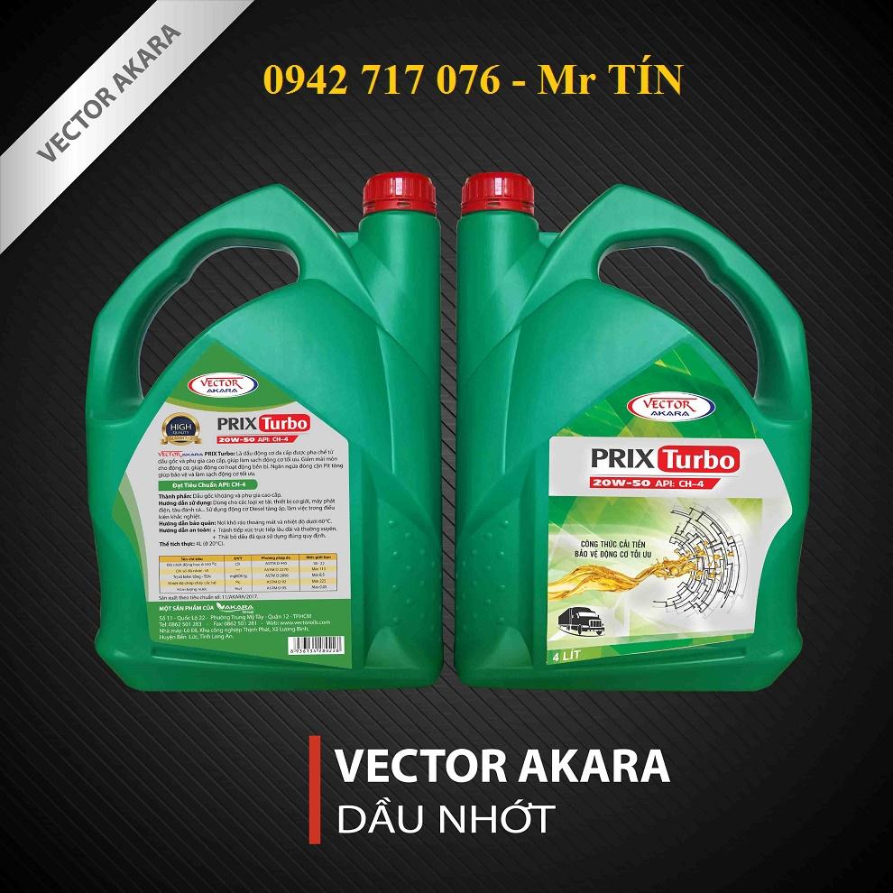 Nhớt động cơ VECTOR PRIX TURBO CH4/SF, 15W-40/ 20W-50 (4L, 18L, 200L)