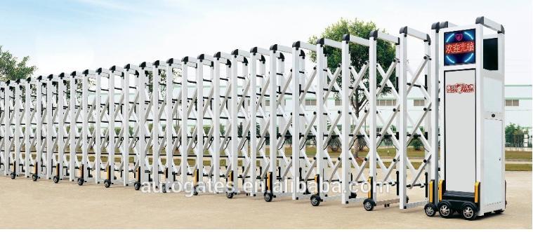 Cửa cổng xếp inox tự động, cổng xếp nhôm hợp kim tự động, cổng xếp trượt tự động -0913183440