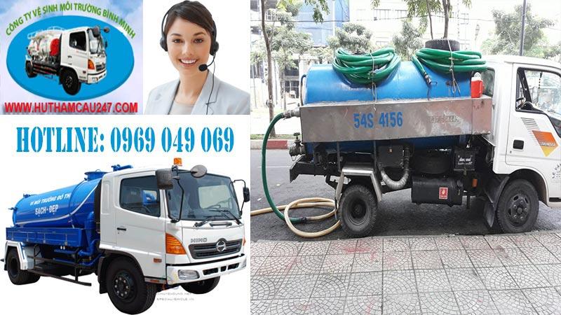 Hút hầm cầu quận 9 công ty môi trường Bình Minh