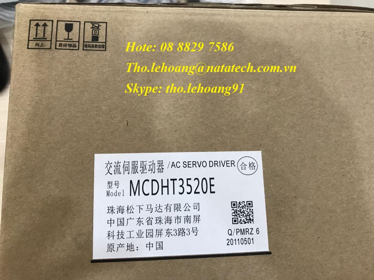 Ac servo Panasonic MCDHT3520E giá tốt - Công Ty TNHH Natatech