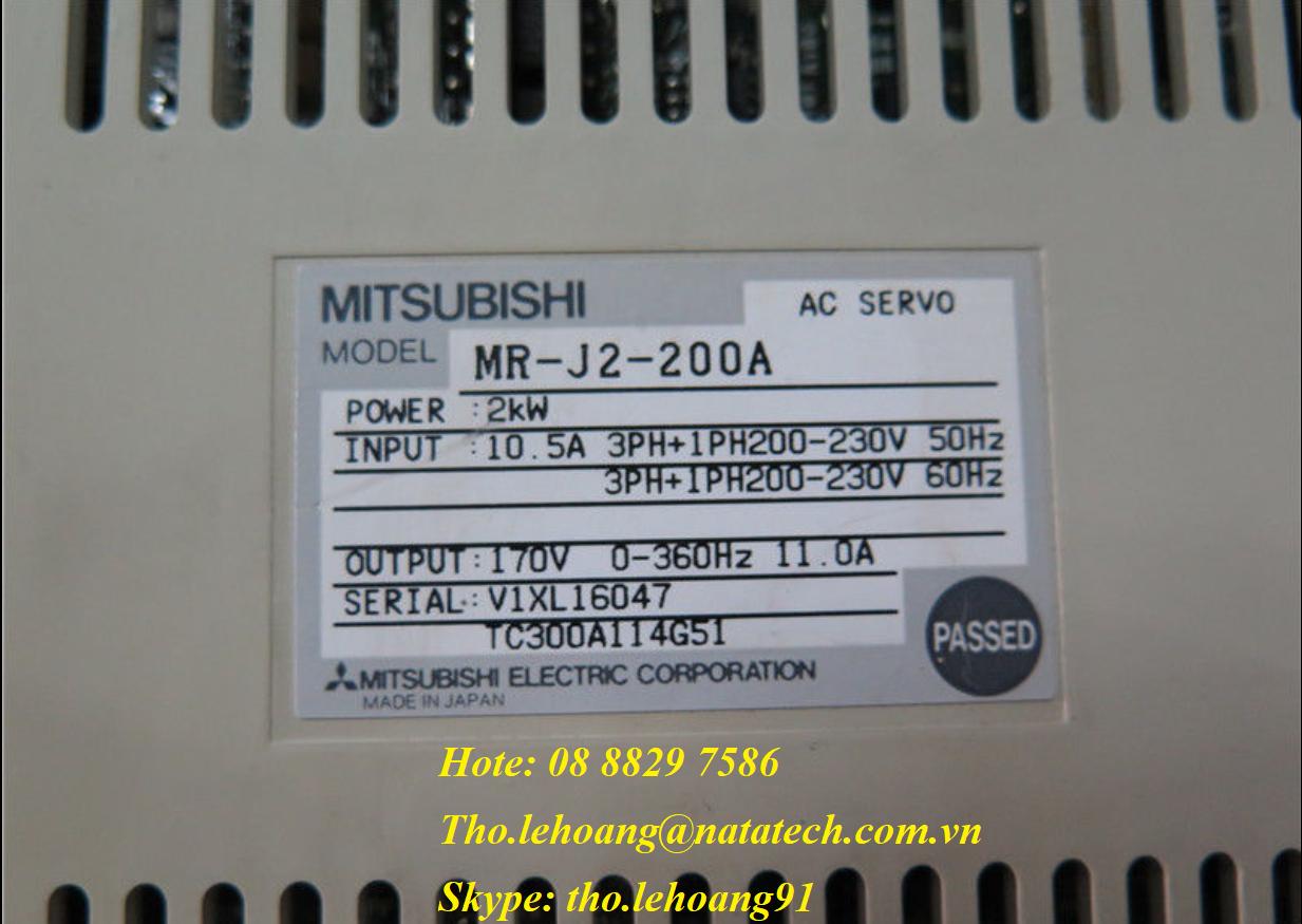 Bộ điều khiển Servo MR-J2S-200A giá tốt - Công Ty TNHH Natatech