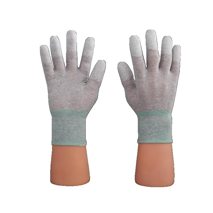Găng tay ESD phủ ngón Carbon Size S,M,L