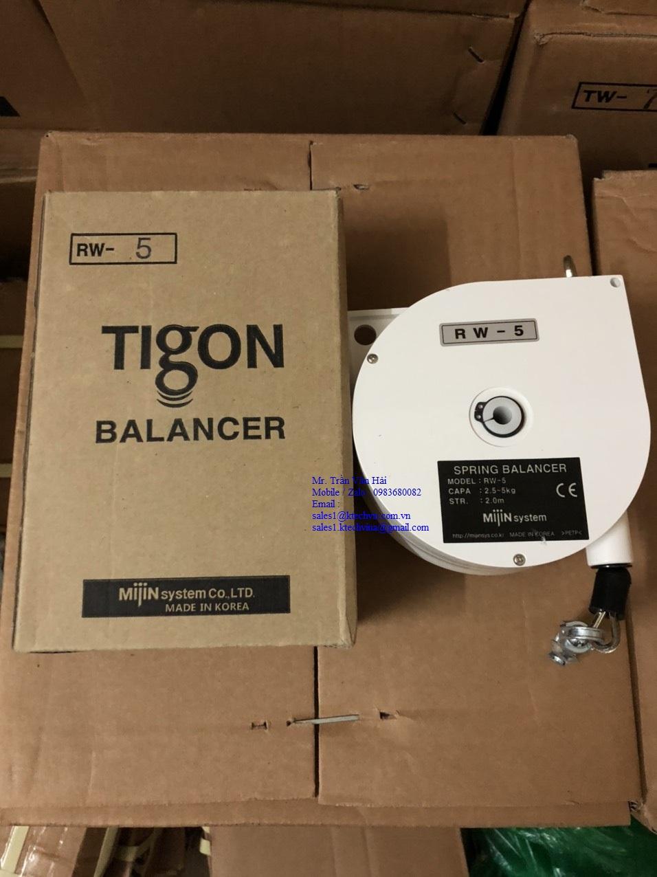 RW5 Pa lăng cân bằng Tigon
