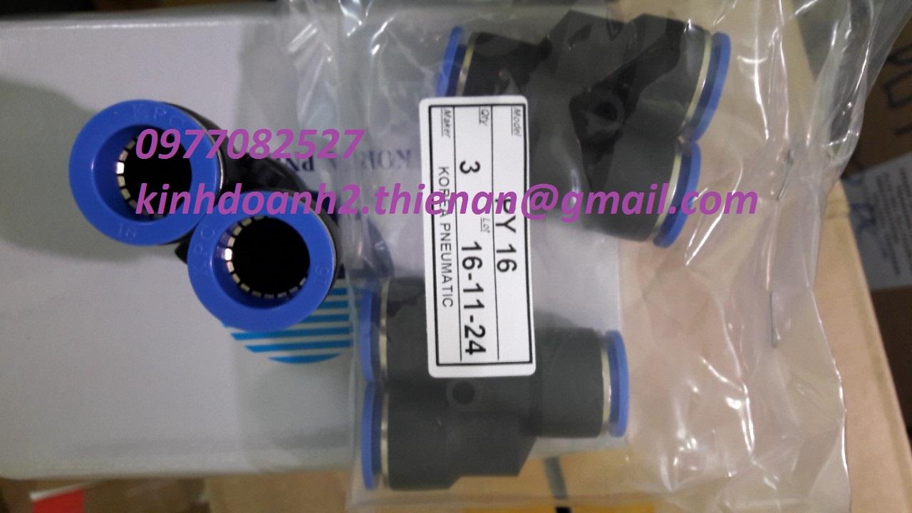 Fitting PYxx/ khớp nối nhanh cho ống khí,dạng chữ Y KPC- Korea