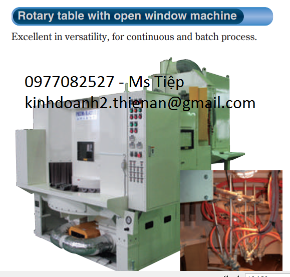 Máy đánh bóng Fuji - rotary table with open window machine
