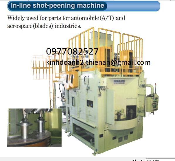 Máy đánh bóng In-line shot - peening machine Fuji